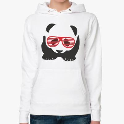 Женская толстовка худи  Панда в очках