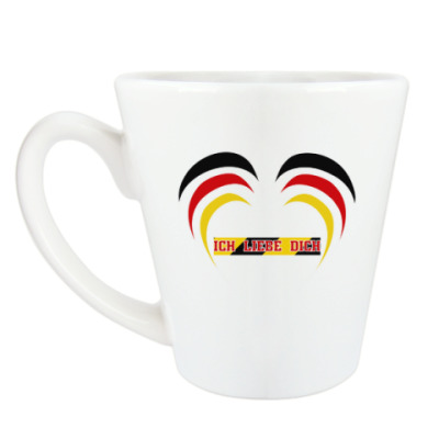 Чашка Латте Я люблю тебя по-немецки