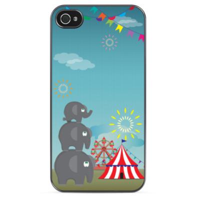 Чехол для iPhone Три слона