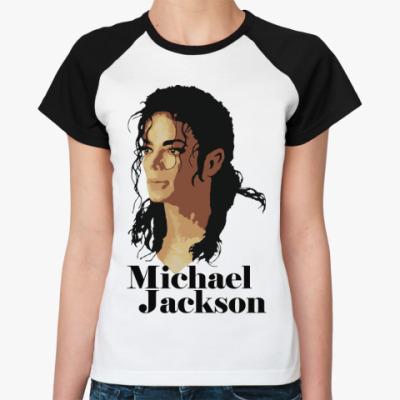 Женская футболка реглан Michael Jackson