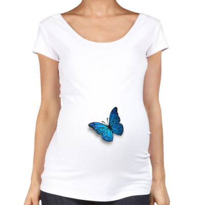 Футболка для беременных бабочка
