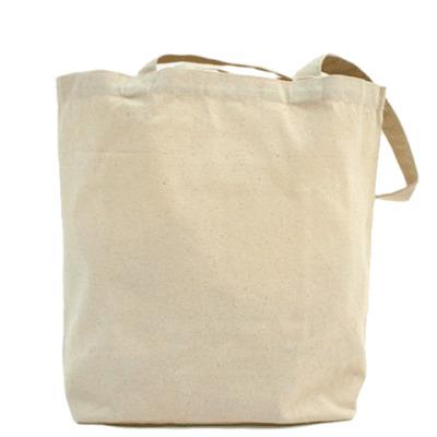 Холщовая сумка бактерия