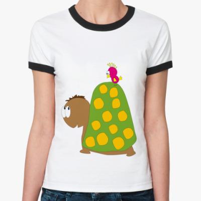 Женская футболка Ringer-T Turtle