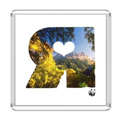 Магнит WWF. Я - это Лето в горах!