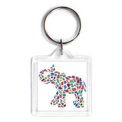 Брелок Слон - мозаика