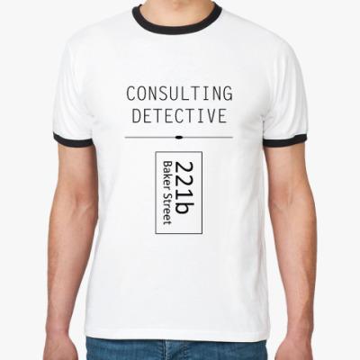 Футболка Ringer-T Consulting Detective