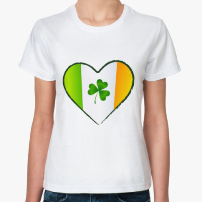 Классическая футболка Люблю Ирландию