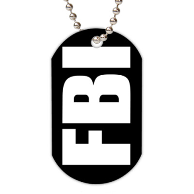 Жетон dog-tag  FBI