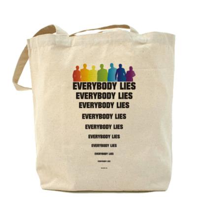 """Сумка Холщовая сумка """"Все лгут"""""""