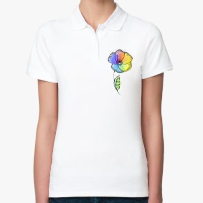 Женская рубашка поло Радужный мак