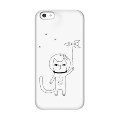 Чехол для iPhone 5c Космический кот