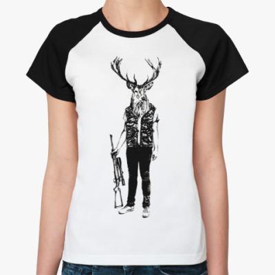 Женская футболка реглан Охотник