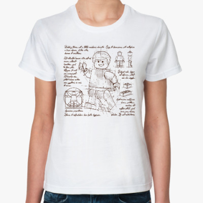 Классическая футболка Схема Лего