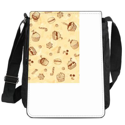 Сумка-планшет Кремовые пирожные