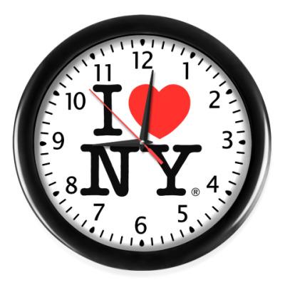 Настенные часы I love NY
