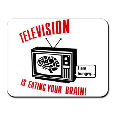Коврик для мыши Телевидение ест мозг