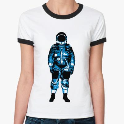 Женская футболка Ringer-T   Космонавт