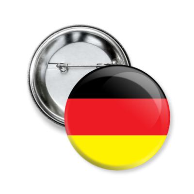 Значок 50мм Германия, Deutshl