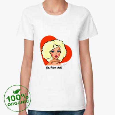 Женская футболка из органик-хлопка Девушка одуванчик