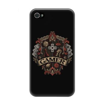 Чехол для iPhone 4/4s Герб Геймера Gamer