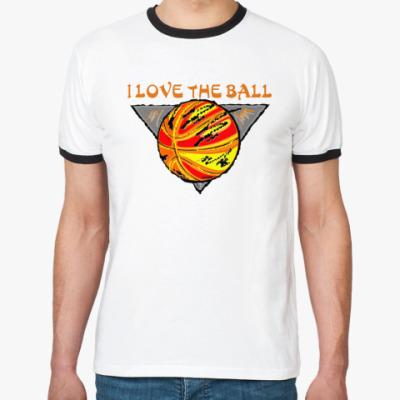 Футболка Ringer-T I Love The Ball