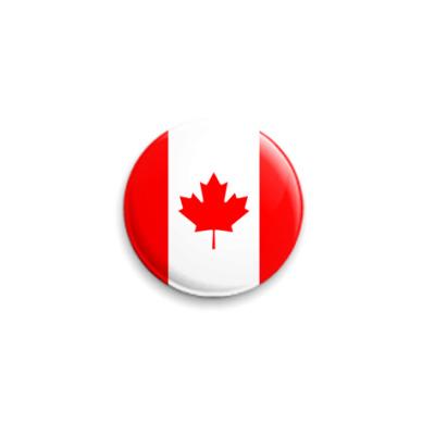 Значок 25мм Канада, Canada