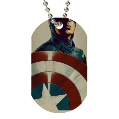 Жетон dog-tag captain America