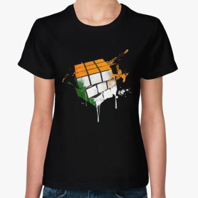 Женская футболка Кубик Рубика | Rubiks Cube
