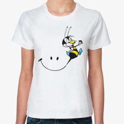Классическая футболка Счастливая пчелка