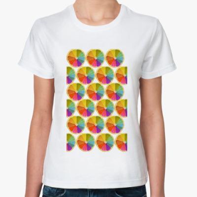 Классическая футболка Цветные лимоны