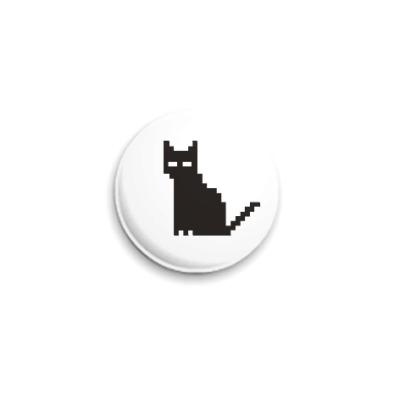 Значок 25мм Пиксельный котик