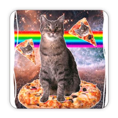 Костер (подставка под кружку) Космический кот