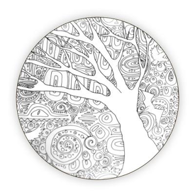 Костер (подставка под кружку) Узорное дерево