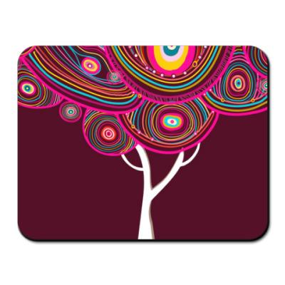 Коврик для мыши Абстрактное яркое дерево
