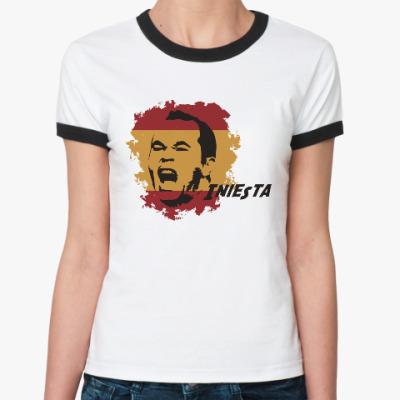 Женская футболка Ringer-T Иньеста
