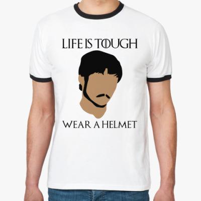 Футболка Ringer-T  Wear a helmet