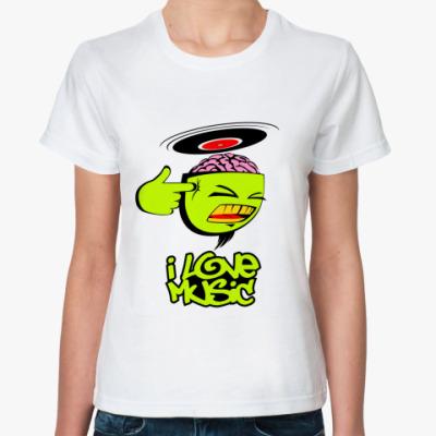 Классическая футболка musical brain
