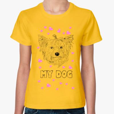 Женская футболка Love my dog