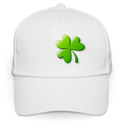 Кепка бейсболка Зеленый объемный клевер