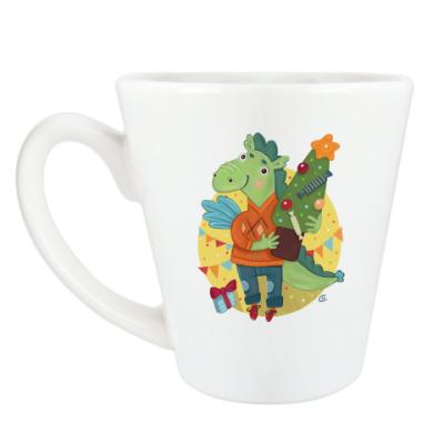 Чашка Латте Драконы мальчик и девочка