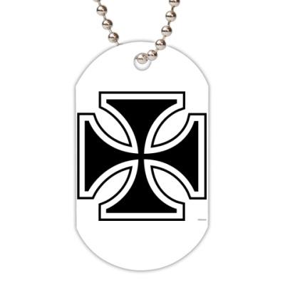 Жетон dog-tag  (белый) iron cross