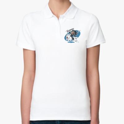 Женская рубашка поло Джон Сноу - Я ничего не знаю!