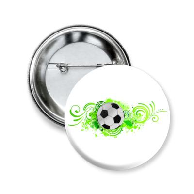 Значок 50мм Футбольный мяч