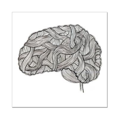 Наклейка (стикер)   «Мозг»