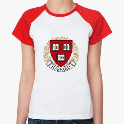 Женская футболка реглан Университет Гарварда