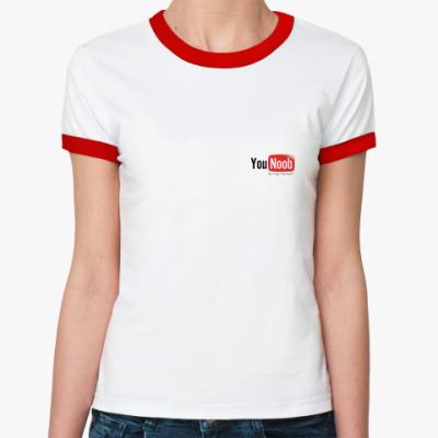 Женская футболка Ringer-T  YouNoob
