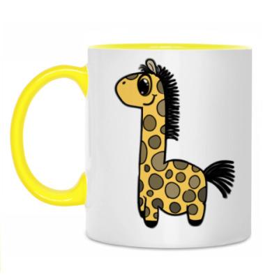 Кружка Жирафик-дет.Кружка бел/жёлт