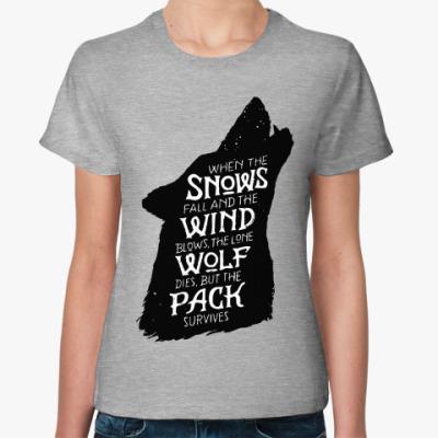Женская футболка Игра престолов Дом Старков