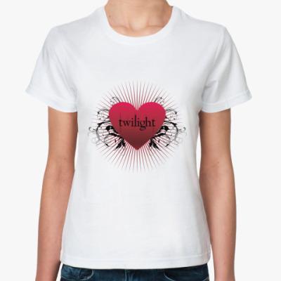 Классическая футболка Twilight heart