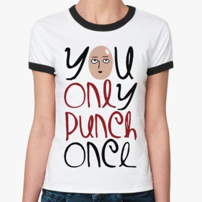 Женская футболка Ringer-T Ванпанчмен One Punch Man
